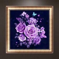 Rose Butterfly 5D Diamond Embroidery Painting DIY Cross Stitch Art Decor Craft
