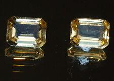 2 Topase Edeltopas gelb imperial Smaragdschliff Brasilien 3,29 ct 3,5 x 6 x 8 mm