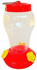 Hanging Humming Bird Hummingbird Feeder Clear Plastic / Red Yellow
