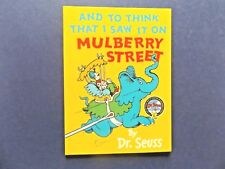   @Oz    AND TO THINK I SAW IT ON MULBERRY STREET By Dr. Seuss (2008), SC, Mini