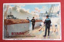 CPA. Publicité BYRRH. Vin Tonique. La Marine. Toilette du Navire. Matelots.