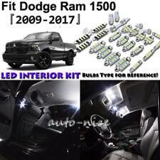 11x White LED Interior Lights Package Kit For 2009 - 2016 2017 Dodge Ram 1500
