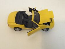 Kyosho 1/18 Diecast  Mazda MX5 Miata  Roadster Sunburst Yellow with Turntable