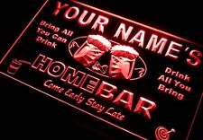 Neon Light Sign Name Personalized Custom Home Bar Beer Plastic Red