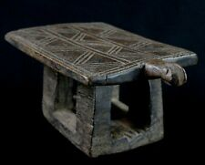 Art Africain - African Stool - Charmant Tabouret Mossi Ancien & Usuel - 25 Cms