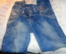 $68 Rocitell 30w 29L SKINNY ankle jeans medium stress wash button missing