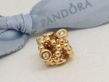 Authentic Pandora 14ct Gold 14k Diamond Precious Memories Charm 750459D