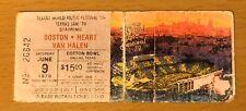 1979 Texxas Jam Van Halen Heart Boston Sammy Hagar Dallas Concert Ticket Stub