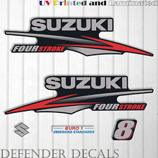 Suzuki 8hp Four Stroke outboard engine decal sticker set kit reproduction 8 HP
