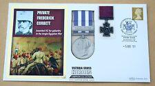 VICTORIA CROSS HEROES  PRIVATE FREDERICK CORBETT 2009 BENHAM REPLICA MEDAL COVER