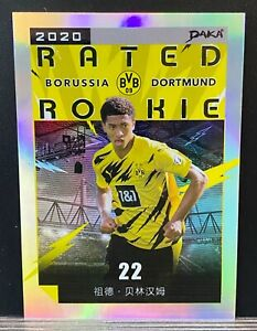 2020 Daka Borussia Dortmund Holo Refractor Jude Bellingham /199 Rookie Card