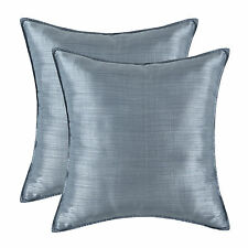 2Pcs Cushion Covers Pillows Cases Light Weight Dyed Stripes Gray Home Decor 45cm