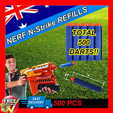 500pcs Toy Refill Gun Darts Blasters for Elite NERF N-Strike Round Head Bullets