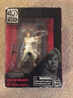 "Star Wars Luke Skywalker Black Series 40th Anniversary Titanium 3.75"" Figure New"