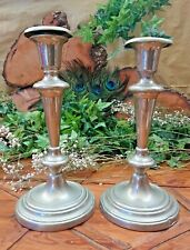 Pair of Candlesticks Vintage Candle Holders silver plate
