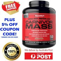 MuscleMeds Carnivor Mass Anabolic Beef Protein Gainer Chocolate Fudge NEW 2.7kg