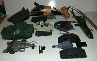 8) GI Joe Vehicles Lot 1980's Vintage Hasbro Helicopters Raider/Locust/Triple T