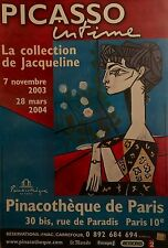 """PICASSO: THE JACQUELINE COLLECTION ORIGINAL FRENCH EXHIBITION POSTER 64"""" X 46"""""""