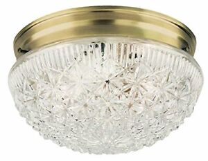 Westinghouse 6661000 Two Light Flush Mount Faceted Glass Ceiling Fixture 10 Pack