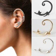 1PC Vintage Cat Clip Ear Cuff Stud Women's Punk Wrap Cartilage Earring Jewelry
