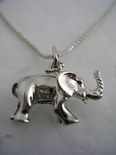 ELEPHANT PENDANT WITH CHAIN IN STERLING SILVER
