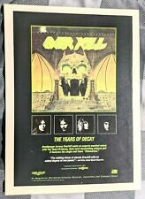 New listing Overkill / Bobby Blitz Ellsworth / 1989 The Years Of Decay Lp Magazine Print Ad