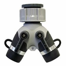 Holman 2 WAY OUTLET Y MANIFOLD 3/4 Inch BSP Male Thread,Universal Tap Connection