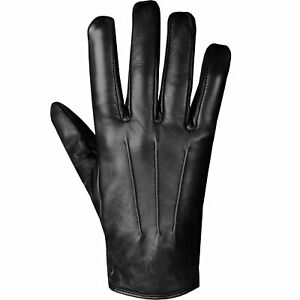 Men's Premium Lambskin Leather Warm Cashmere Winter Driving Dress Gloves