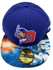 New Era 59Fifty Buffalo Bisons Star Wars Night Fitted Hat Size 7 3/8 Blue