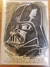2016 Star Wars Evolution Jason Sobol Darth Vader Artist Sketch 1/1