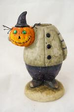 Rare VHTF Yankee Candle Boney Bunch Incredible Mr. Bones Pumpkin Taper Holder