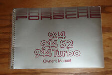 Original 1989 Porsche 944 S2 Turbo Owners Operators Manual 89