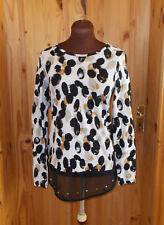 NEXT ivory black tan brown grey leopard chiffon stud long sleeve tunic top 6 34