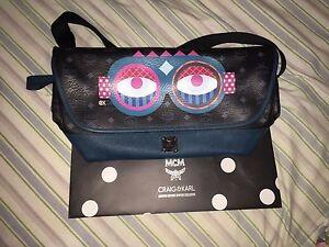 Brand New MCM Limited Edition Craig & Karl Snow Dome Messenger Bag