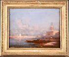 HENRI DUVIEUX (1855-1882) SIGNED FRENCH ORIENTALIST OIL - VENICE DOGES PALACE