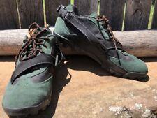 Vintage Nike Mountain Bike Cycling Shoes Men's 10 Green Suede & Black VGUC!