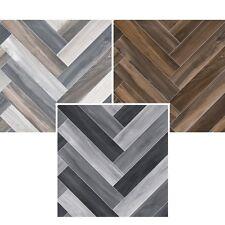HERRINGBONE Cushion Floor VINYL FLOORING Brown Grey Kitchen Bathroom Toilet Lino