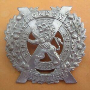 The 14th Battalion London Regiment Scottish British Army/Military Hat/Cap Badge