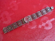 schöne,alte Armbanduhr__800 Silber__Trachtenuhr __Handaufzug__Bifora_ !