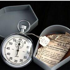 boxed AGAT STOPWATCH vintage Soviet stop watch USSR 0.2sec / 60sec / 30min