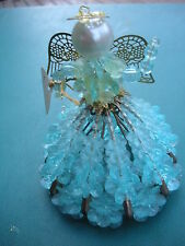 1960's Kitchen Craft Safety Pin Art Figurine -Pins,Beads &Brass Wings- From Kit