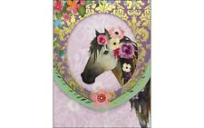 PUNCH STUDIO PUN46037  NOTE PAD POCKET WINDOW HORSE FLOWERS