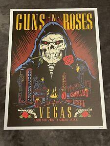 Guns N Roses Lithograph Not In This Lifetime Las Vegas 4/9/16 #695/1000