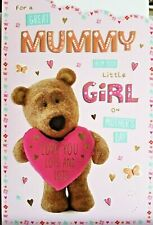 MUMMY FROM YOUR LITTLE GIRL MOTHER'S DAY CARD ~ BARLEY BEAR DESIGN QUALITY CARD