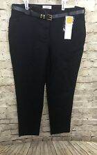 Charter Club Navy Slim Leg Ankle Pants Classic Fit Belt Size 4 NWTs