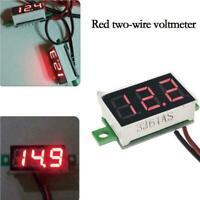 1PCS DC 4.5-30V 2 Wires 0.36 inch LED Panel Voltage Meter Volt 3Digit Dis NEW