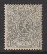 Belgique - 1866/7,1c gris - Blason - PERF 15 - Excellent état sans gomme - SG 43