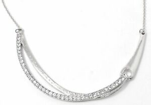 Charter Club Silver-Tone Pave Bar Necklace