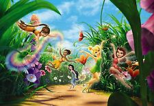 Disney Wall mural wallpaper for girl's bedroom poster style Fairies Meadow