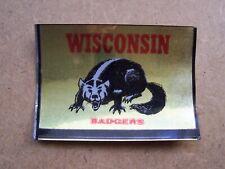 1960 Topps Wisconsin Badgers metallic sticker insert, very nice